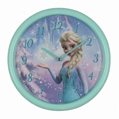 "Disney Frozen ""Elsa"" Aqua Wall Clock For Children's Room 25cm"